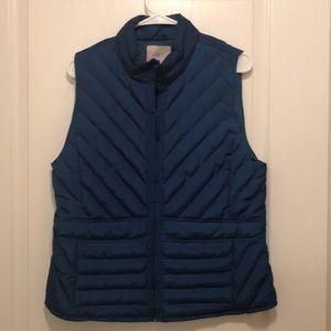Loft Blue Puffer Vest with Pockets!